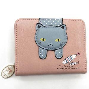 Handbags - Pink Cat & Fish Wallet